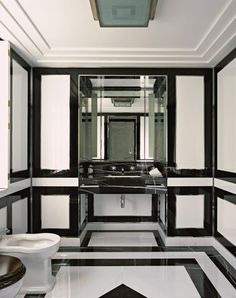 Powder Room - Graphic to the max powder room  (re-pinned photo - Alidad).