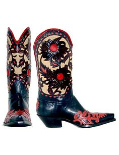 Calabasas (Red) - Handmade Cowboy Boots from Liberty Boot Co