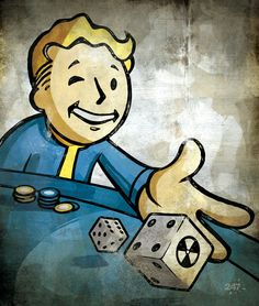 Fallout - Vault Boy - modern day interpretation of 50s style character used in…