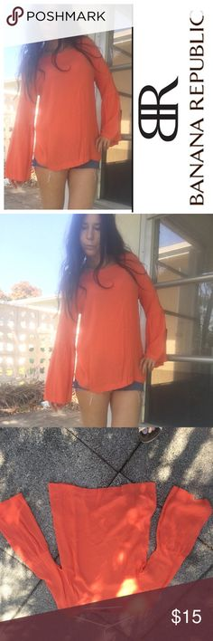 Banana Republic orange blouse Lightweight rayon. Slightly belled at elbow. Very cute and versatile Banana Republic Tops Blouses