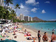 Waikiki Beach, Honolulu Hawaii   Google Image Result for http://static.panoramio.com/photos/original/43758463.jpg