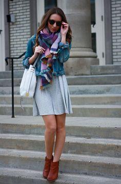 Little Grey T-shirt Dress | Twenties Girl Style