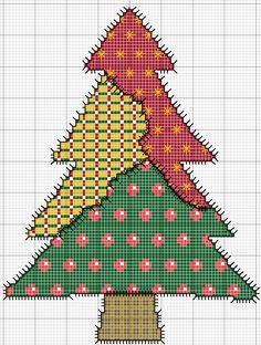 Árbol de Navidad en Punto de cruz