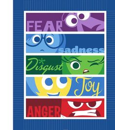 Cute No Sew Blanket Throw featuring all of Disney Pixar's Inside Out Emotions at Joann's