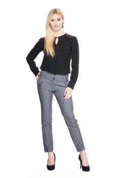 Spodnie z szerokim pasem SL4001G www.fajne-sukienki.pl Jeans, Fashion, Moda, Fashion Styles, Fashion Illustrations, Denim, Denim Pants, Denim Jeans