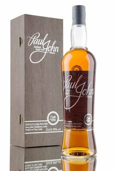 A peated Indian single malt whisky from Paul John distillery, Goa. Matured in single cask #686, a first fill American bourbon barrel before being bottled at cask strength, 59% vol with an outturn of only 156 bottles.