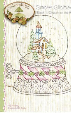 Snow Globe Quilt Pattern by LavenderQuiltShop on Etsy