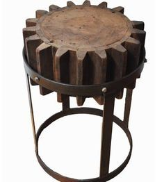 Steampunk Gear Cog stool