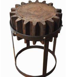 Steampunk Gear Cog stool