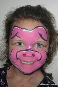 3 little pigs face makeup Animal Face Paintings, Animal Faces, Face Painting Designs, Body Painting, Pig Face Paint, Nose Makeup, Pig Costumes, Clown Faces, Kids Makeup