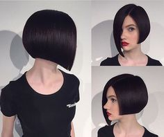 50 Eye Catching Asymmetrical Bob Hairstyles and Haircuts Medium Hair Styles, Short Hair Styles, Asymmetrical Bob Haircuts, Asymmetric Bob, Long Bob Hairstyles, Pretty Hairstyles, Bad Hair, Short Hair Cuts, Hair Trends