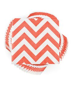 Happy napkins! Red Zigzag Napkin - Set of 20 #zulily #zulilyfinds