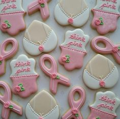 Breast Cancer Cookies Breast Boob Bra Cancer Pink Ribbon Think Pink