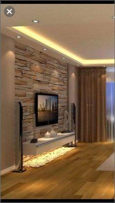 Bedroom Tv Unit Design, Living Room Tv Unit Designs, Tv In Bedroom, Bedroom Decor, Modern Bedroom, Decor Room, Tv Wall Unit Designs, Tv Unit Furniture Design, Bedroom Sofa