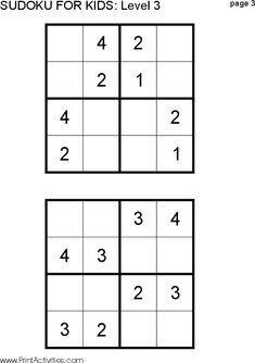 Kids can do Sudoku too!