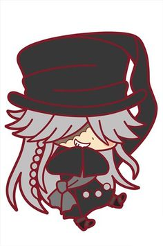 Black Butler Book of Circus Undertaker Rubber Cell Phone Strap