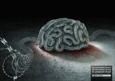 The most challenging barrier for refugees is the one in our head. Advertising Agency: DDB, Vienna, Austria Creative Directors: Andreas Spielvogel,