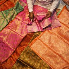 Sari cloth seller in India...