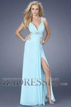 Sheath/Column Sraps Chiffon Prom Dress - IZIDRESSES.COM
