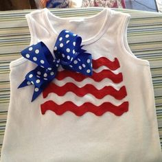 Baby girl Fourth of July shirt idea