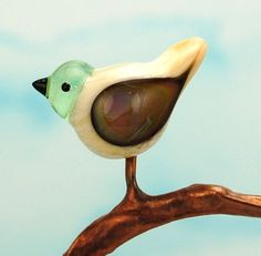 Glass bird bead. Handmade lampwork bird bead focal. by glassdaft