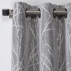 ATI Home Finesse Faux Linen Grommet Top Curtain Panel Pair