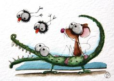 Snappy croc by stressiecat on Etsy, $18.00
