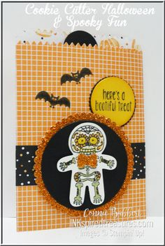 Stampin' Up!, Cookie Cutter Halloween and Spooky Fun, #stampinup, Mini Treat Bag, favor, created by Connie Babbert, www.inkspiredtreasures.com