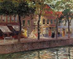 Emile Claus (Belgian 1849–1924), Canal in Zeeland, 1899.