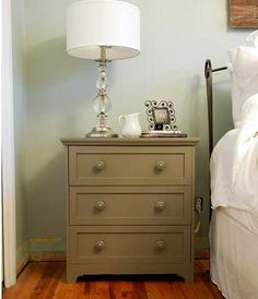 IKEA Rast makeover - painted furniture - subtle detail on the base and nice finished top added