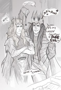 So i did a Melkor/Mairon Silmarillion thing :D credit to the amazing artist Phobs from http://melkorwashere.tumblr.com/tagged/my-art <— This amazing blog, and constantly feeding the silm fandom with amazing goodness.Alas, gazing upon her majesty inspired me to sketch ths little number x