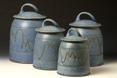 Quail Run Pottery Canister Set