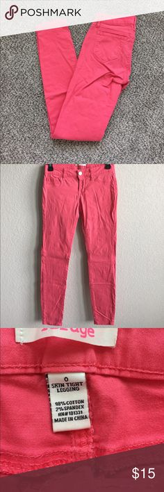 Pink Jean-styled Leggings Leggings styled like skinny jeans. Functional pockets in back. Very comfortable! refuge Other