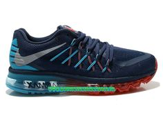 Nike Air Max 2015 Chaussures Nike Pas Cher Homme Bleu/rouge 698902 - ID6