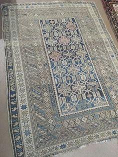 Antique Caucasian rug at Pak Oriental Rugs, San Francisco.