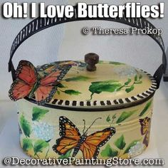 Oh I Love Butterflies ePacket - Theresa Prokop - PDF DOWNLOAD Butterfly Painting, Oh My Love, Painting Patterns, Animal Paintings, Line Drawing, Flower Pots, Butterflies, Pdf, Drawings