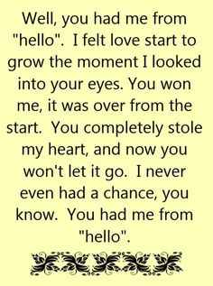 Kenny Chesney - You Had Me From Hello - song lyrics, song quotes, songs, music lyrics, music quotes, https://www.HeidiSolomon.isagenix.com