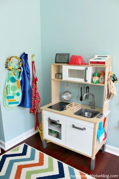 So many good ideas on how to create a playroom that will grow with your child! Ikea hacks!