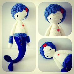 MICI the mermaid made by esogurumi / crochet pattern by lalylala