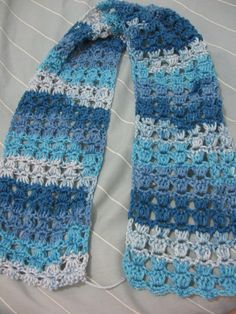 Angel Stitch Scarf free crochet pattern