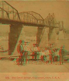 The great bridge, Cincinnati, Ohio, U.S.A. 1865?-1895?