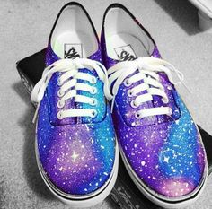 Hand Painted Galaxy/Cosmic Vans Sneakers