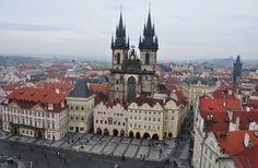 Iglesia de Nuestra Señora en frente del Týn, Plaza Ciudad Vieja, Praga, República Checa.