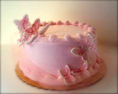Pink Butterflies Cake