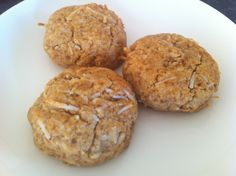 Paleo Coconut Cookies - best Paleo cookies that don't use honey to sweeten. Subbed 1/2 coconut sugar and 1/2 stevia. Added 2 Tbsp coconut milk and chocolate chips...yummy!!