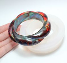 Corded Bangle Silicone Mold by zougeebean on Etsy