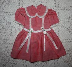 Dark Pink Dress for Large Hard Plastics 1950s
