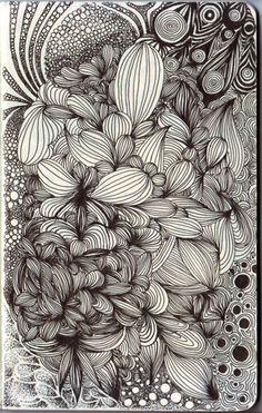 flower gardens zentangle tangles - Google Search