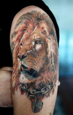 In tattoo art, a design of a male lion symbolizes masculinity and paternal leadership while a tattoo of a lioness represents loyalty and the ferocity of a mother lioness protecting her cubs. Description from rattatattoo.com. I searched for this on bing.com/images