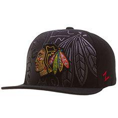 Chicago Blackhawks Black Huge Tonal Logo Snapback Hat